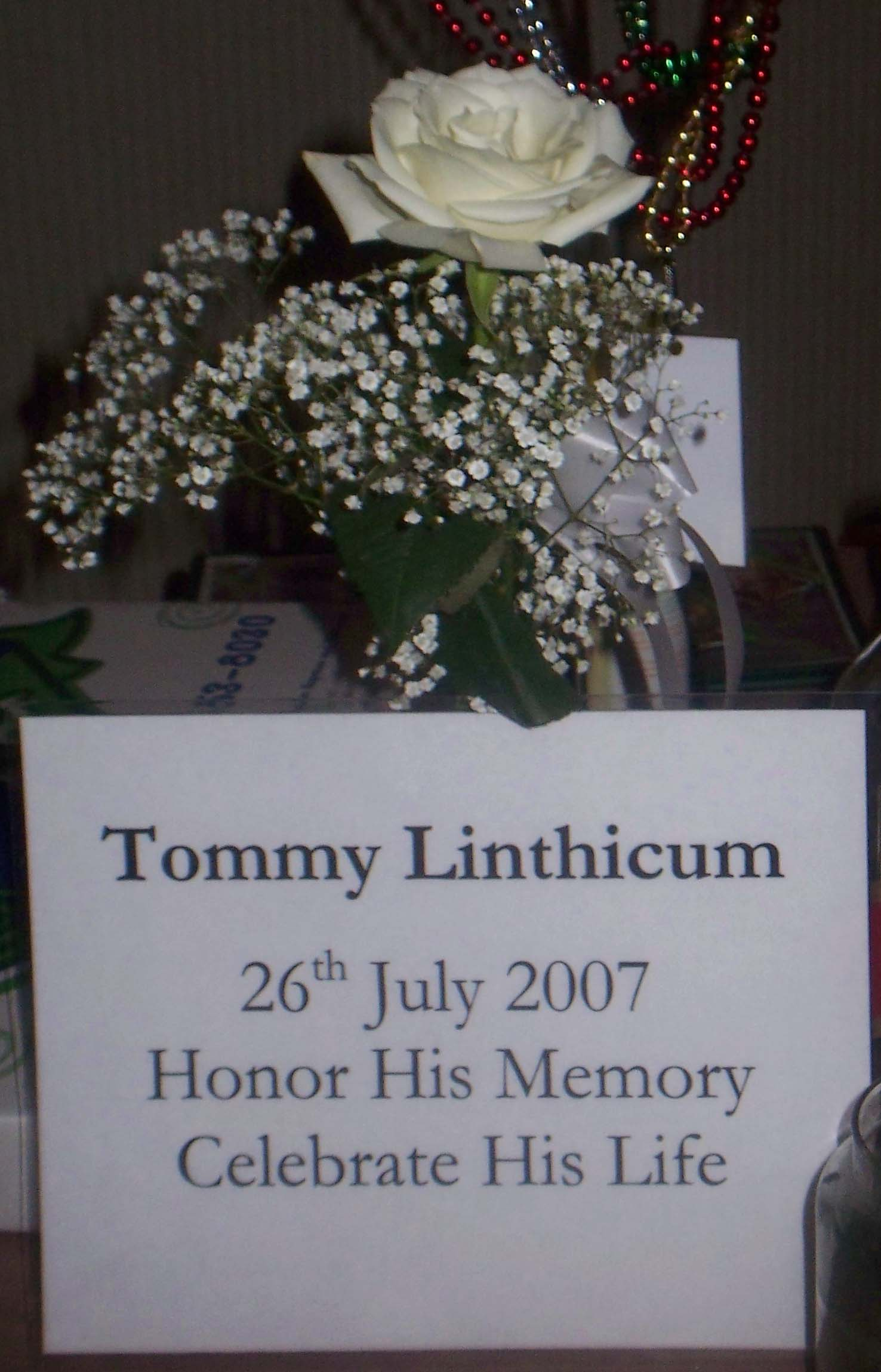 Memorial Tribute at the Lowell Folk Festival desk